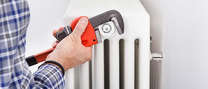 radiator afkoppelen
