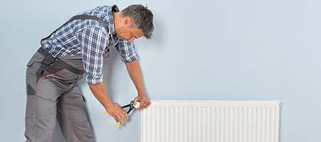 radiator vervangen door verwarmingsmonteur